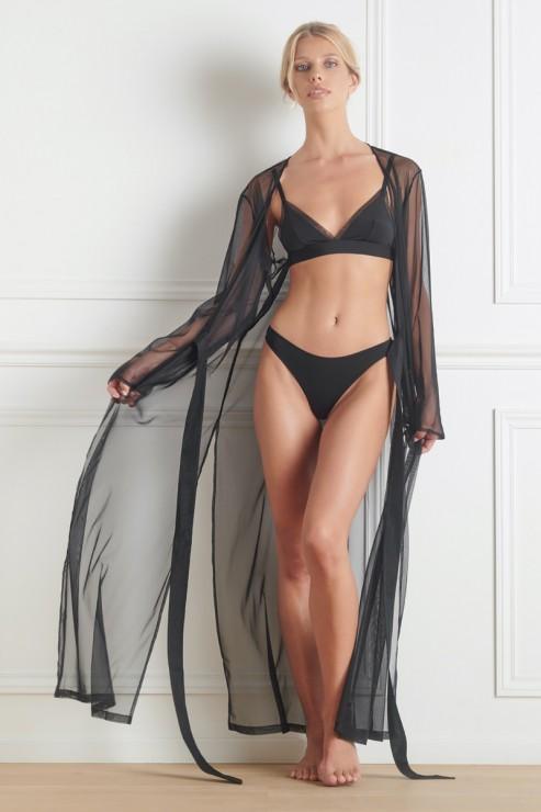 Maison Close - Madame Reve Mesh Kimono - Black