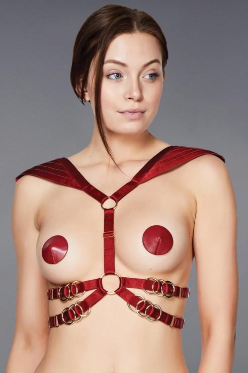 Bordelle Lingerie - Voyeur Body Harness - Red