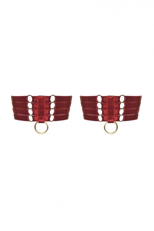 Bordelle Lingerie - Webbed Garters Set - Red
