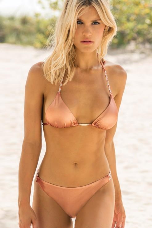 Eniqua - Copper Tan - Triangle Bikini Set