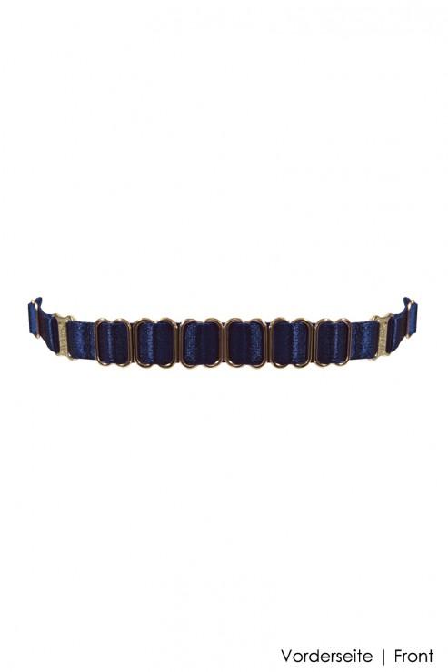 Bordelle Lingerie - Rey Strap Collar - Navy Blue