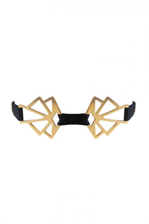 Bordelle Lingerie - Art Deco Collar Choker - Black