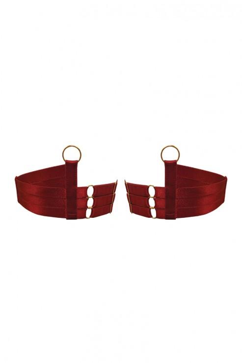 Bordelle Lingerie - Tomoe Strap Garters - Red