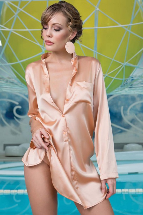 Cotton Club Silk - Nightdress Poderosa - Apricot