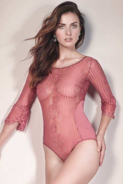Escora - Josephine Bodysuit - Rose/Berry