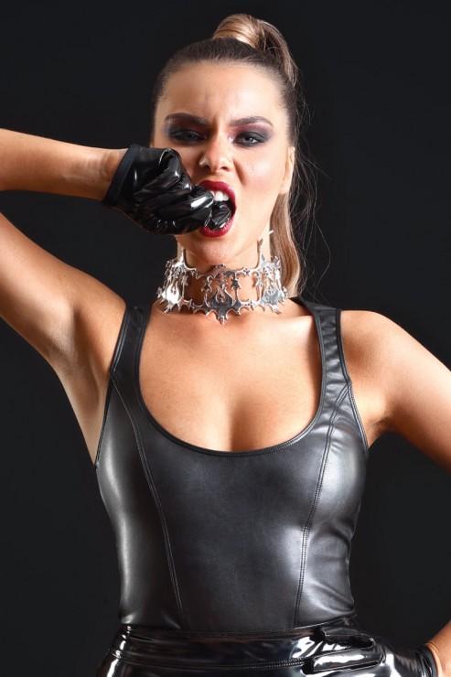 Maison Catanzaro - Reglisse Leatherette Top - Black