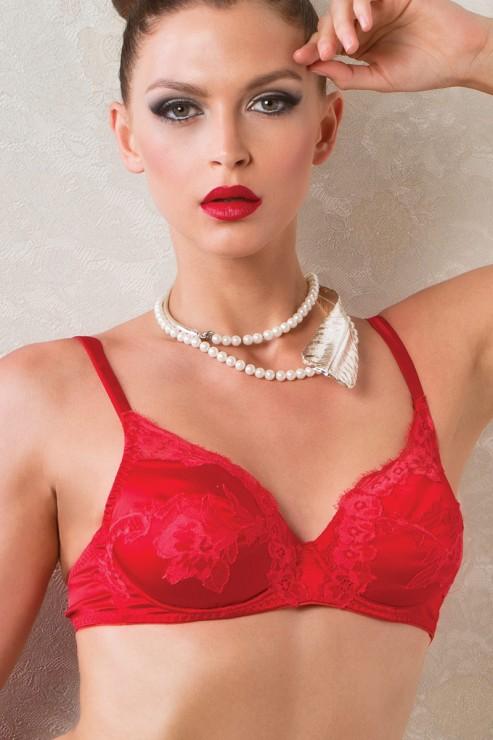 Cotton Club Silk - Wired Bra Potente - Red