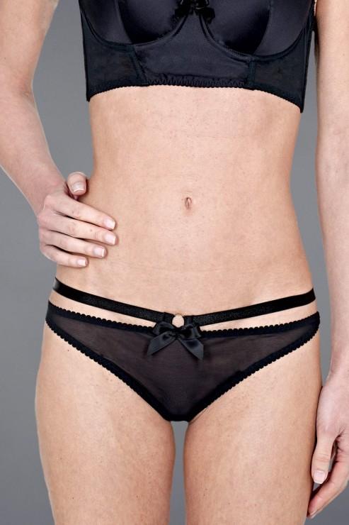 Bordelle Lingerie - Harness Thong - Black