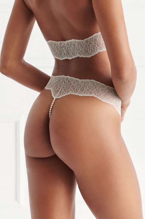 Bracli - Sydney Single Pearl Thong - Cream