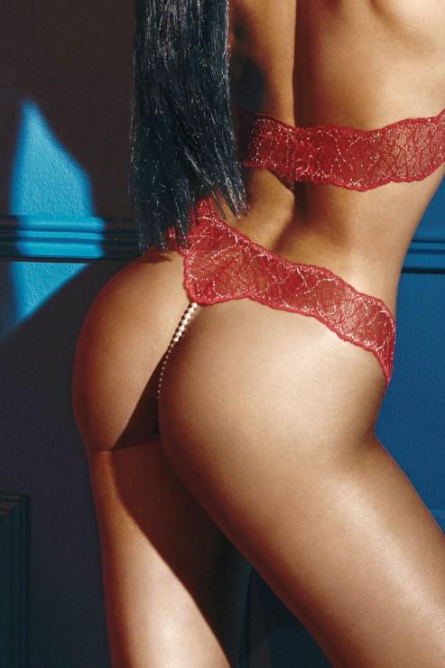 BRACLI - SYDNEY SINGLE - PEARL THONG - RED