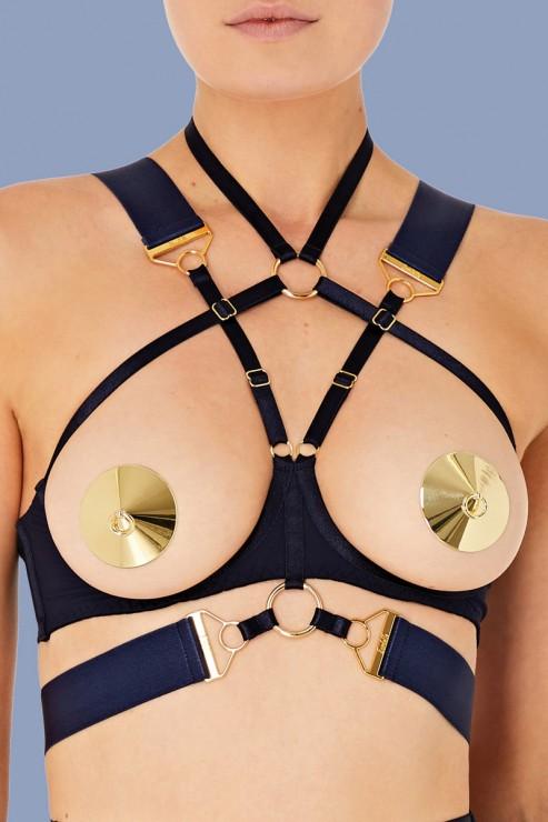 Bordelle Lingerie - Rey Ouvert Wire Bra - Navy Blue