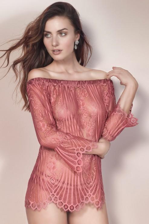 Escora - Josephine Carmen Shirt - Rose