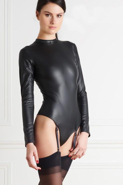 Maison Close - Chambre Noire Thong Body - Wetlook Black