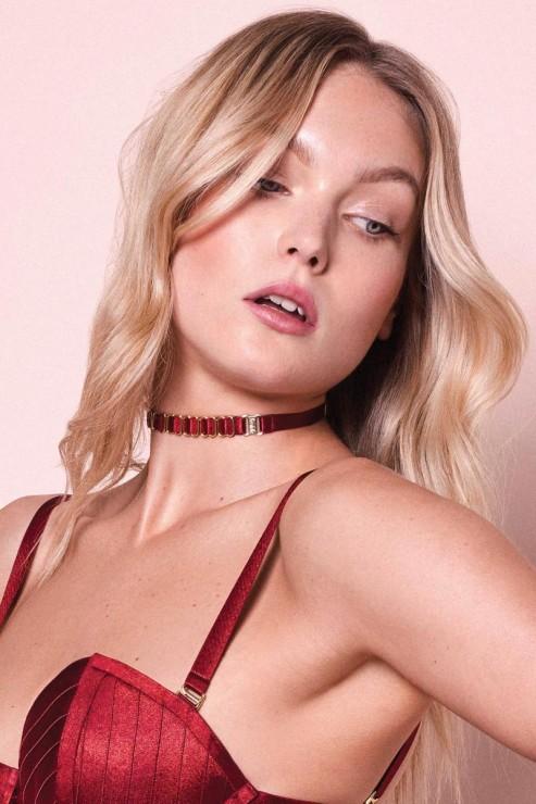 Bordelle Lingerie - Strap Collar - Red