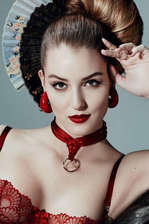 Bordelle Lingerie - Asobi Collar Choker - Red